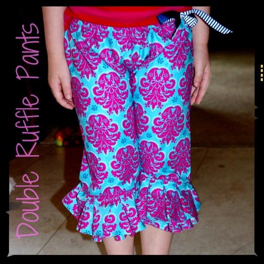 double ruffle pants