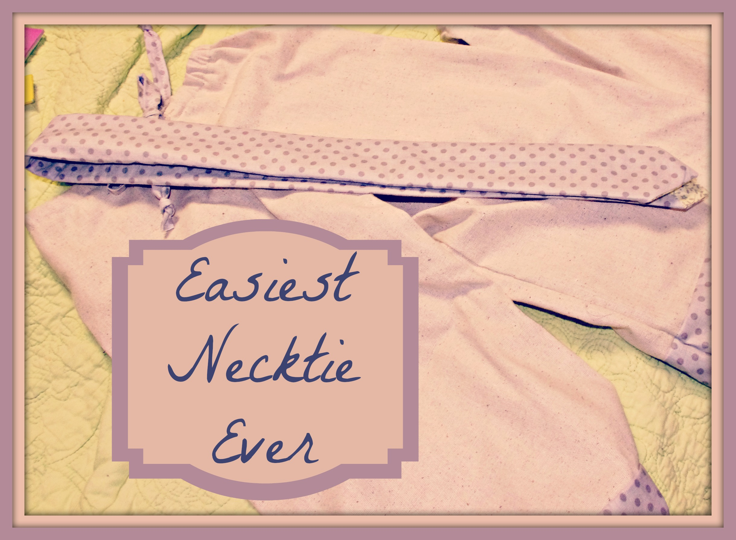 free necktie pattern – Notes from the Parsonage