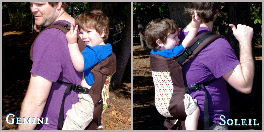 back carry 2yo collage with text
