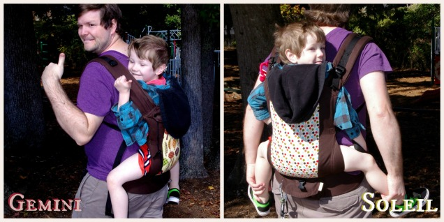 back carry 4yo collage with text