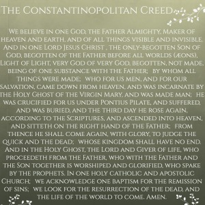 Constanopolitan Creed