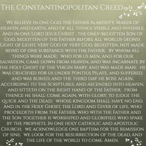 Constanopolitan Creed
