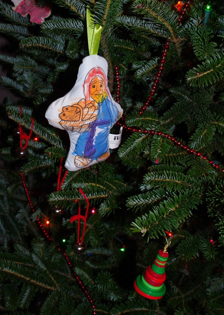 jesus and some fishes at Christmas