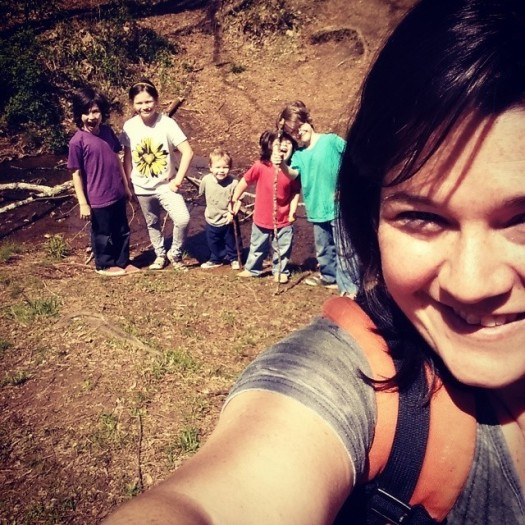hiking kids
