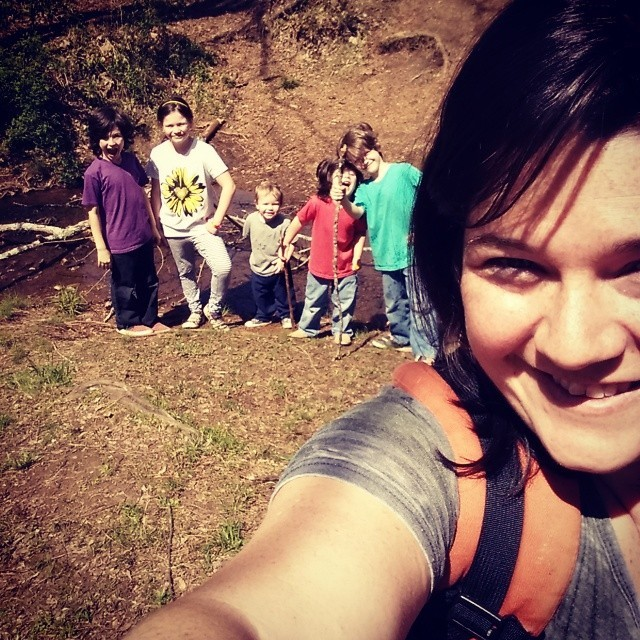 hiking kids